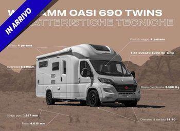 Foto Wingamm Oasi 690 Twins Camper  Parzialmente Integrato Nuovo