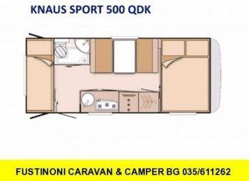 Sport500qdkcaravan2018knaus5/6posti Camper  Roulotte Nuovo - foto 2