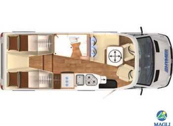 Foto Hymer B-klasse Modern Comfort T B-mc T 580 Camper  Parzialmente Integrato Nuovo