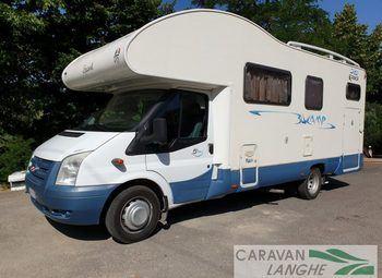 Blu Camp Sky 500 Con Garage Grande Camper  Mansardato Usato