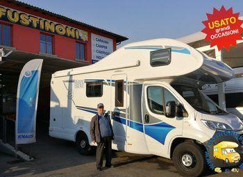 Knaus L!ve Traveller 600 Dkg 2018 - 6 Posti Nolo Camper  Mansardato Usato