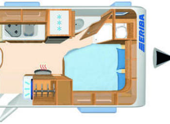 Eriba Hymer Living 485 Camper  Roulotte Nuovo