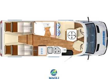Foto Hymer B-klasse Modern Comfort T 580 Camper  Parzialmente Integrato Nuovo