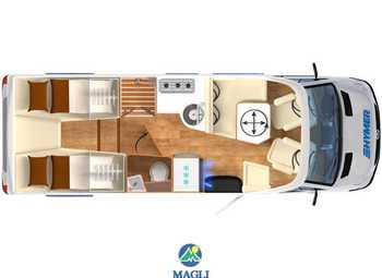 Foto Hymer B-klasse Modern Comfort T 680 Camper  Parzialmente Integrato Nuovo