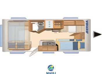 Foto Eriba Hymer Living 555 Xl Camper  Roulotte Nuovo