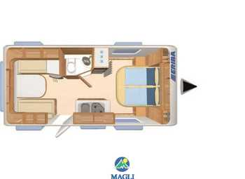 Eriba Hymer Living 470 Camper  Roulotte Nuovo