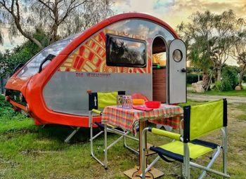Foto Tabbert Caravan Noleggio Mini Caravan T@b 320 Rs 2 Posti 750 Kg Camper  Roulotte Usato