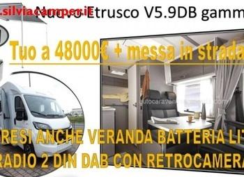 Etrusco V5.9db 2022 Corto Compatto Camper  Parzialmente Integrato Nuovo